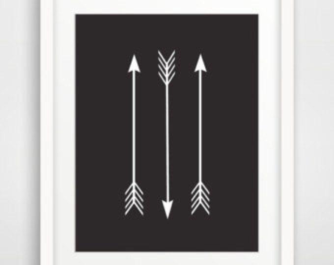 Black Arrow Print, Black and White Arrow Wall Print, Black Print, Black Art, Black Wall Art, Black Wall Print, Printable Downloadable Art