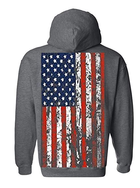 American Flag Mens Hooded Sweatshirt United States Usa Tattered Flag Hoodie Review Hooded Sweatshirt Men Hooded Sweatshirts Hoodies
