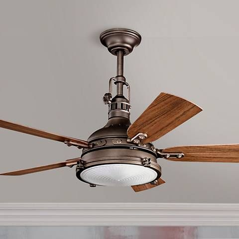 Add style to indoor or outdoor areas with the damp location rated kichler hatteras bay ceiling fan