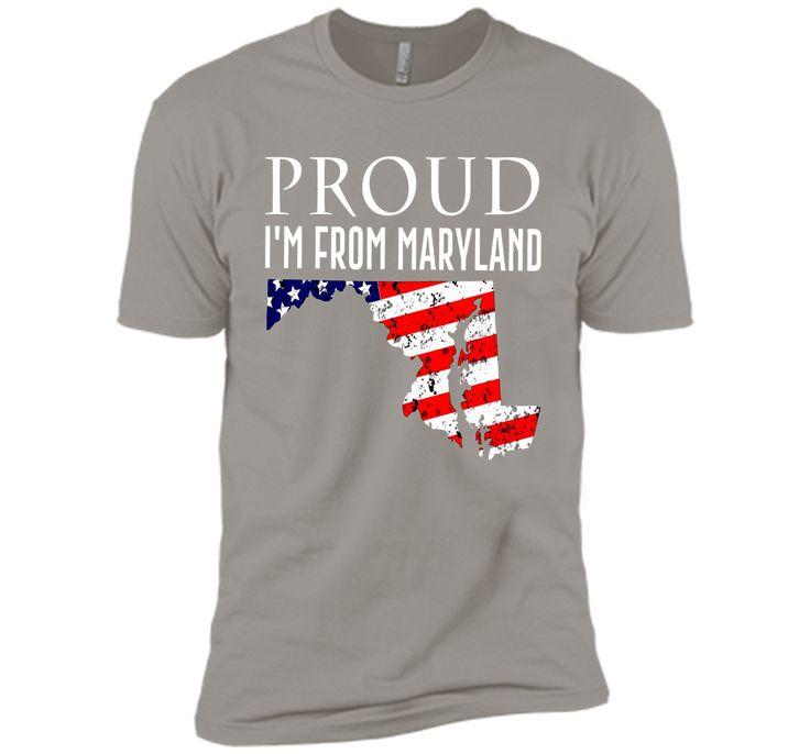 Proud of maryland-US flag Independence day Tshirt