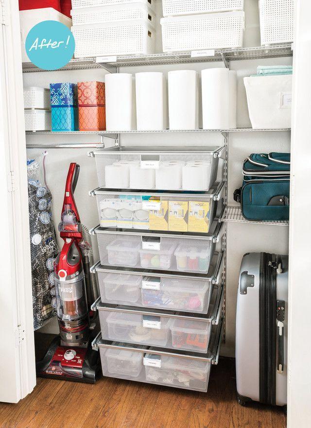 Closet Organization Ideas A Catch All Closet Finds Its Focus With Images Storage Closet Organization Tiny Closet Organization Linen Closet Organization