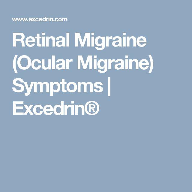 Retinal Migraine (Ocular Migraine) Symptoms | Excedrin®
