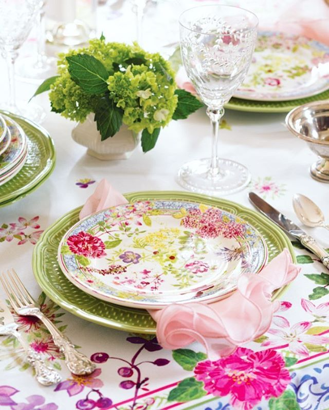 Whether spring has arrived outside your door or not welcome it indoors with this brightly blooming table setting from and See more of our floral ideas and ...  sc 1 st  Pinterest & 124 best Spring Table Setting Ideas images on Pinterest | Table ...