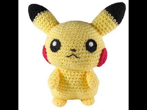 Pokemon Go amigurumi crochet, muñecos de ganchillo, Pokeball, Pikachu Ka...