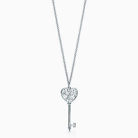 Pendentif Clé Cœur Tiffany Enchant® en argent 925millièmes. Medium.