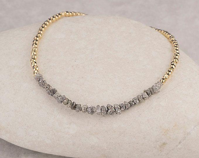 Diamant Armband Rohdiamanten Armband Diamant Perlen Armbänder