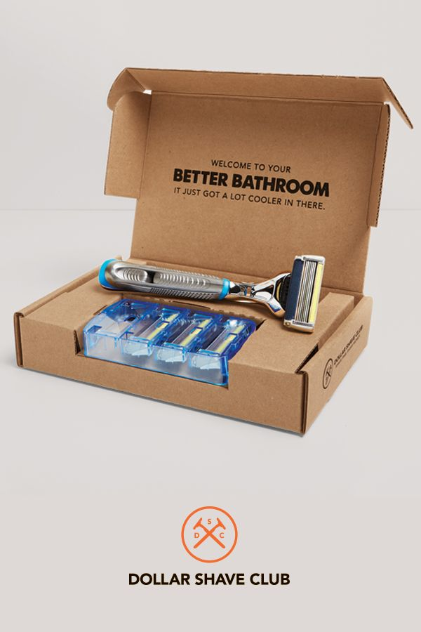 Don't overpay for flowery pink razors. Get amazing razors from Dollar Shave Club for just a few bucks.