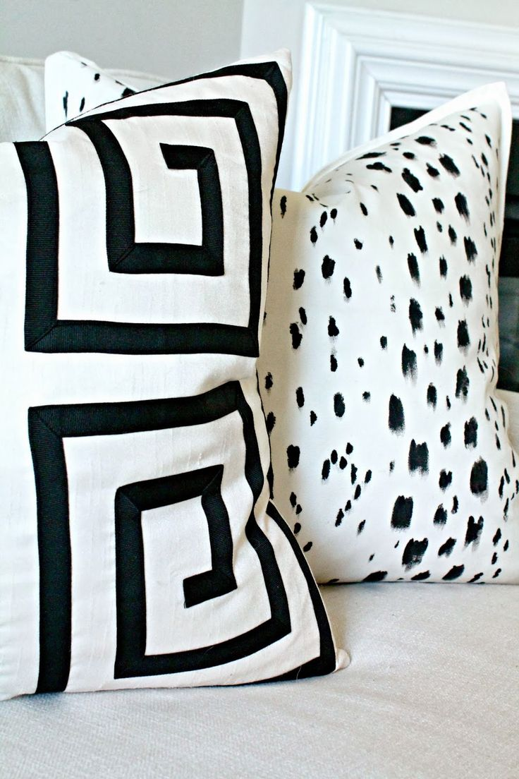 DIY: Painted Pillows {Designer Lookalikes}