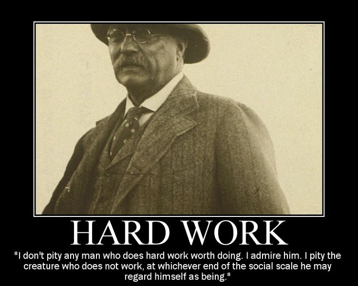 Motivational Posters: Theodore Roosevelt on Hard Work