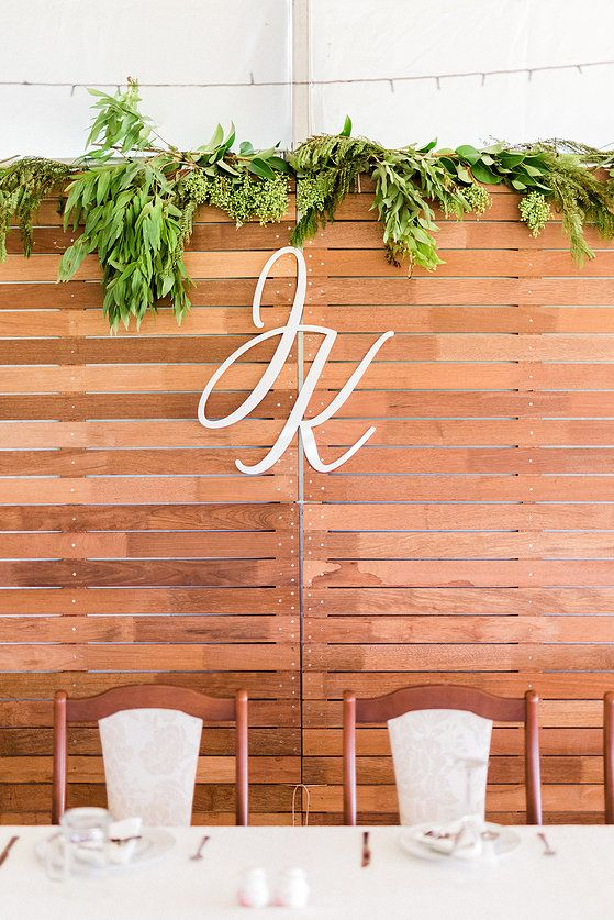 Wooden Backdrop and Personalised Initials by West End @ a Taree Wedding #backdrop #wedding #letters #custom