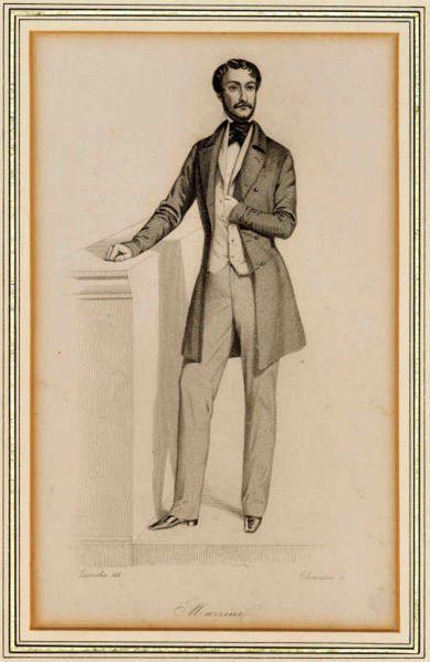 Giuseppe Mazzini (b. 1805 – d. 1872) Prominent Italian freemason, mafia member and politician.  [source]