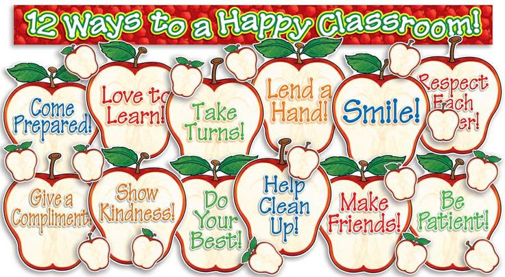 Happy Classroom Apples Bulletin Board Set