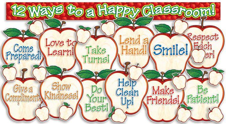 Happy Classroom Apples Bulletin Board Set