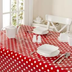 Dotty Collection Square PVC Tablecloth