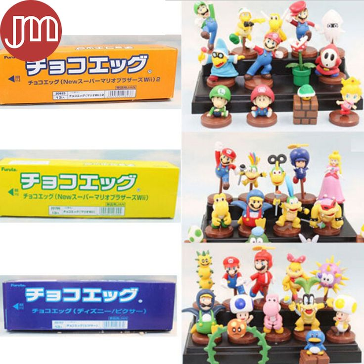 """Find More Action & Toy Figures Information about New 13 PC Super Mario Bros Action Figure Set 2"""" 2.5"""" Anime Game Characters Kids Toys Collections Blue Orange Yellow Retail Box,High Quality baby shower favor bags boxes,China babies toy box Suppliers, Cheap baby toilet seat cover from M&J Toys Global Trading Co.,Ltd on Aliexpress.com"""