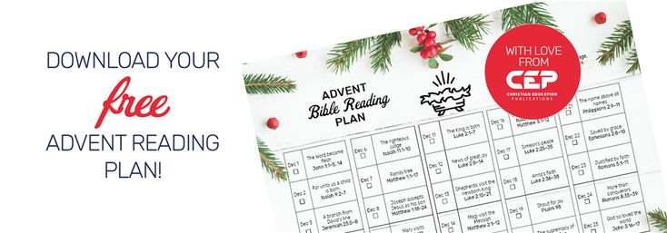 Download advent reading plan Christian Education Publications - Evangelical online book store