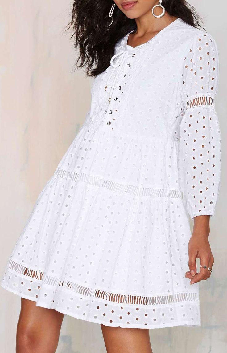 Michela Eyelet Dress