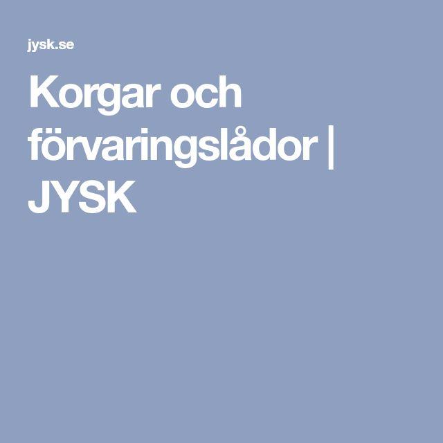 Korgar och förvaringslådor | JYSK