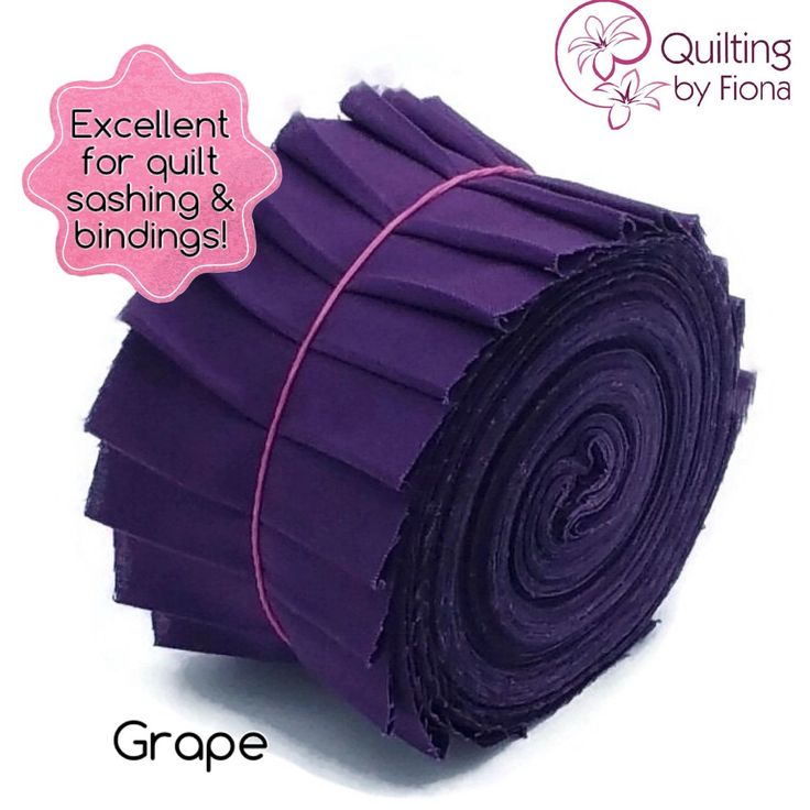 A personal favourite from my Etsy shop https://www.etsy.com/au/listing/230759924/20-x-25-grape-purple-jelly-roll-precut