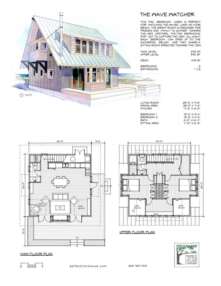 The Wave Watcher front and floor plan