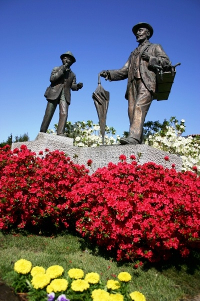 Monumento all'ombrellaio. Massino Visconti (Novara, Piemonte, Italy)