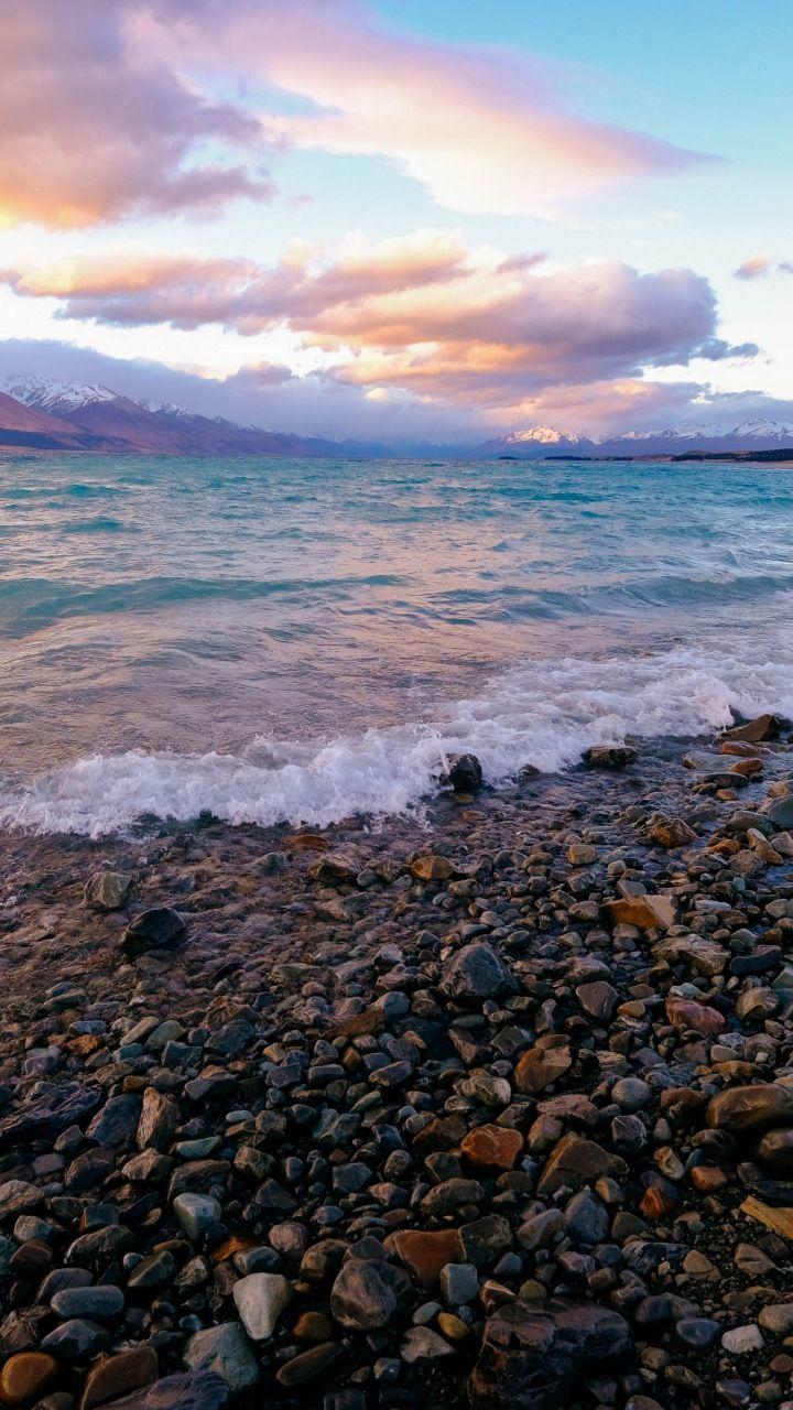 Coast Sea Waves Sunset Rocks 720x1280 Wallpaper Sea Waves Minimal Photography Beautiful Wallpapers