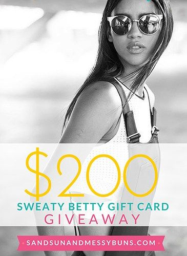 **Winner announced on 02.17.16. Congrats to Shira R! Giveaway is now closed.** New post on the blog: GIVEAWAY: $200 SWEATY BETTY GIFT CARD <3 (Enter daily until 02.16.16) sandsunandmessybuns.com