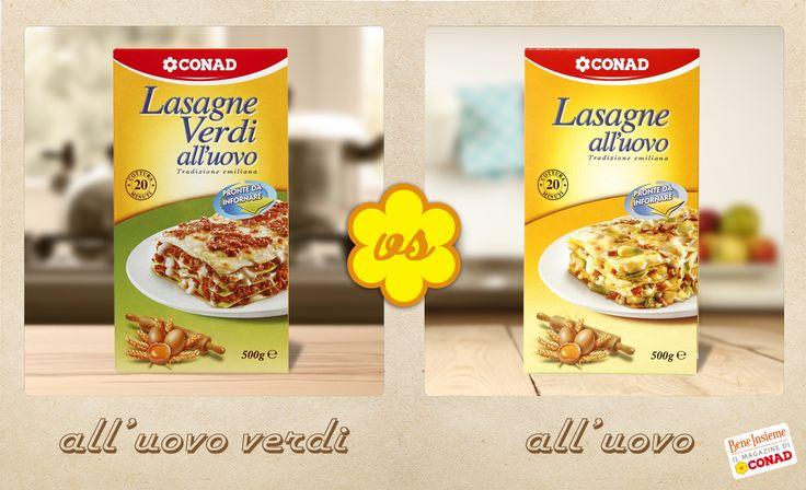 Parliamo di #lasagne: meglio tradizionali all'#uovo o verdi? Chi vincerà? :)