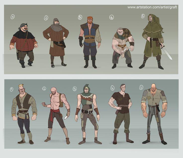 ArtStation - cartoon fantasy characters, Dawid Krzyżanowski