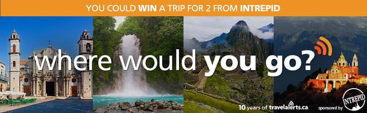 Enter the 10 Years of TravelAlerts Contest now for your chance to %23win a trip for 2 from @intrepidtravel! http://bit.ly/1syc4IW