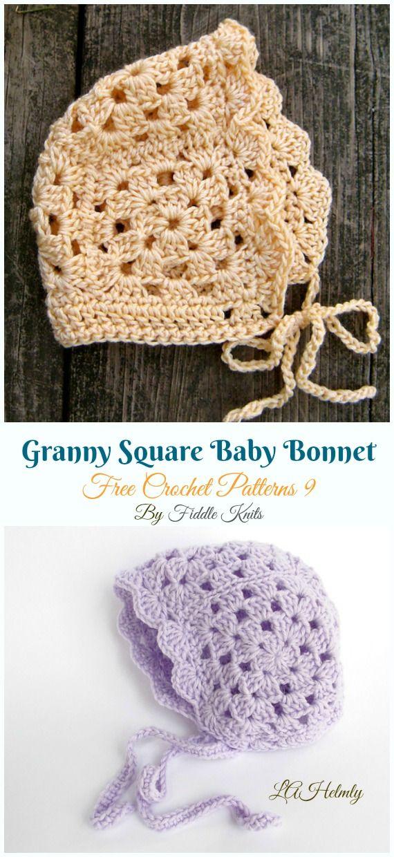Baby Bonnet Hat Free Crochet Patterns Crochet And Knitting