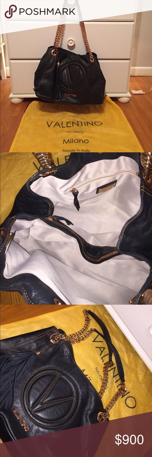 Mario Valentino tote bag Beautiful tote bag. Perfect condition. Has gold handles, many compartments. Perfect everyday bag. Open to offers Mario Valentino Bags Totes