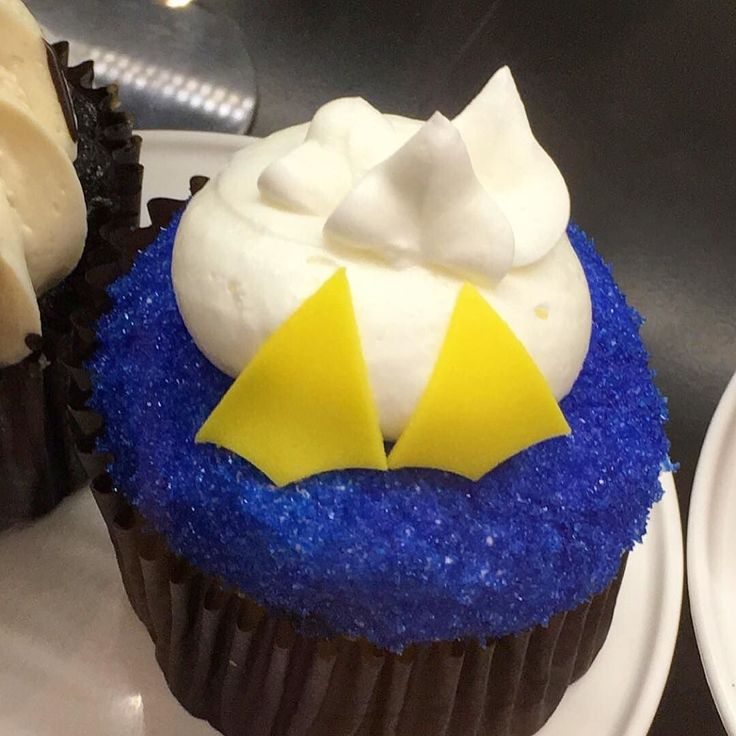 Looks like Donald Duck took a dive into this cupcake at Magic Kingdom's…