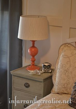 coral lamp from brass