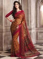 Red Color Chiffon Daily Wear Sarees : Surani Collection YF-31798