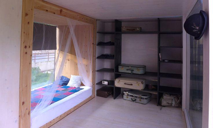Gartenhaus innen Kleines haus schlafzimmer, Pfahlbau
