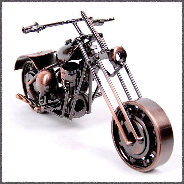 Nuovo arrivo bronzo modello di moto, idee regalo personalizzate, natale piccole decorazioni natalizie, ferro battuto M1-1 spedizione gratuita