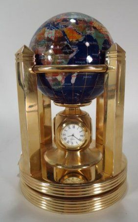 10 best gemstone globes images on pinterest globes compass and maps gemstone globe with 3 clocks and thermometer gumiabroncs Image collections