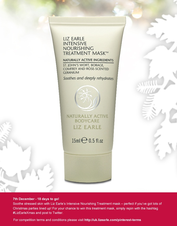 For a chance to win a bottle of Treatment Mask, repin and post to Twitter with #LizEarleXmas on 7 Dec!