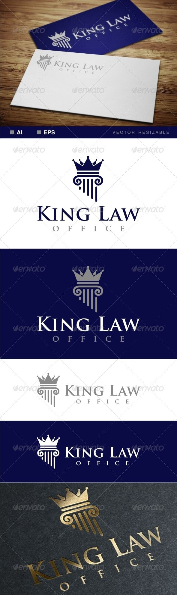 King Law Office Logo  #attorneys #case #trust • Click here to download ! http://graphicriver.net/item/king-law-office-logo/7067636?ref=pxcr
