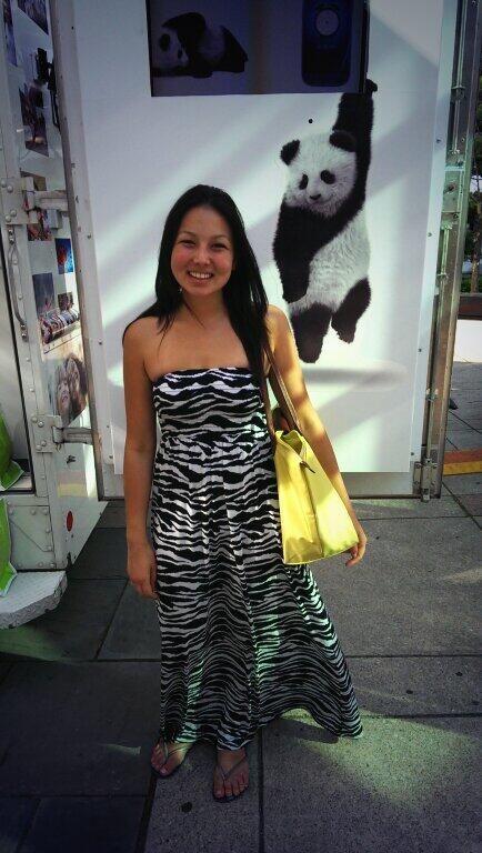 Posing with the Telus Panda! #Luminato #artmatters via twitter @M_Gagliano