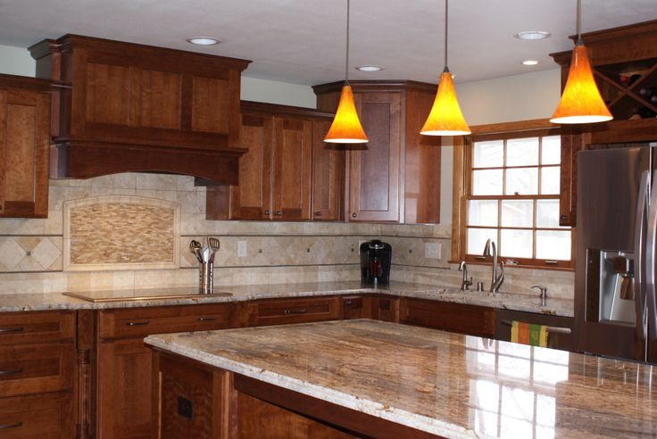 This Once U Shaped Kitchen Now Features An Island