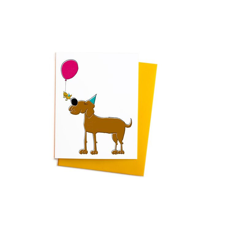 New to anopensketchbook on Etsy: Funny Happy Birthday Dog Greeting Card with Balloon: Chihuahua and Great Dane Card (4.50 USD)