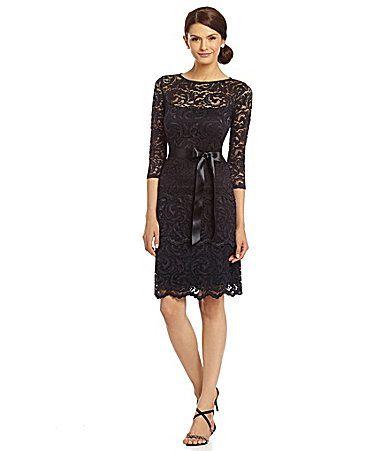 Marina Floral Lace Dress #Dillards