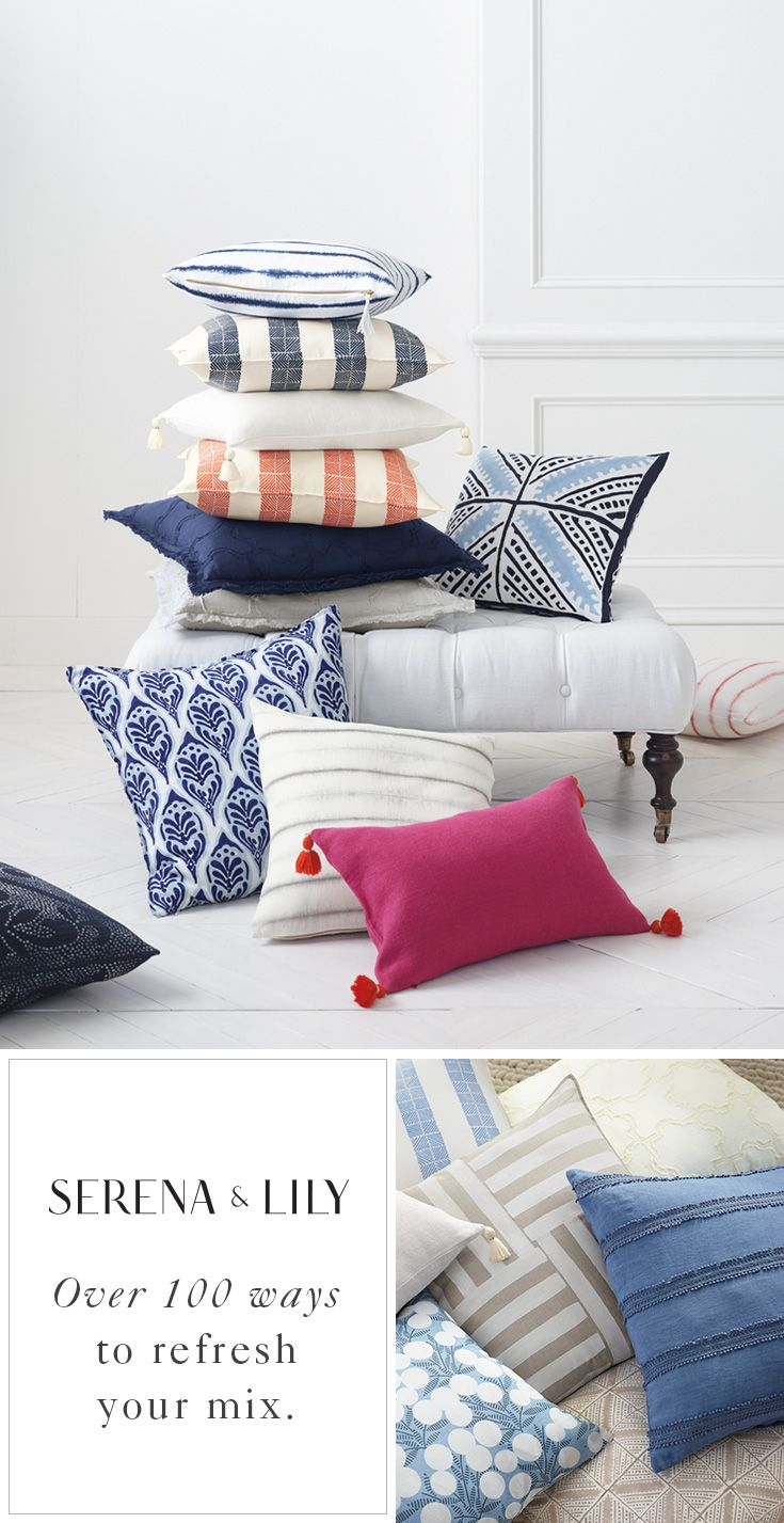 Sometimes you just need a sofa refresh, right? We love how our pillows can