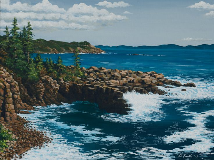 Otter Cliffs in Acadia National Park, Maine. This one is for Ally. We went there on vacation in the summer of 2014.