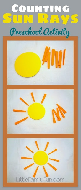Fun way to practice Math and Counting with Preschoolers!