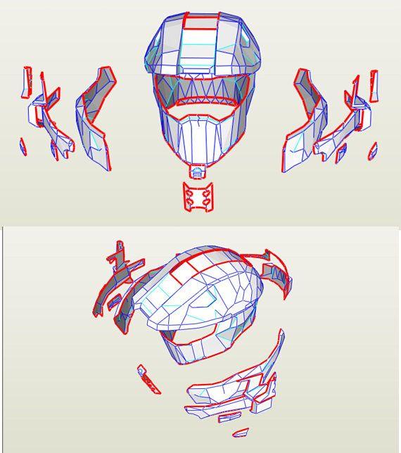 Halo Master Chief armor suit EVA Foam PDF PDO pepakura
