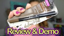 Watch tutorial on how to used maybelline eye brow filler - YouTube