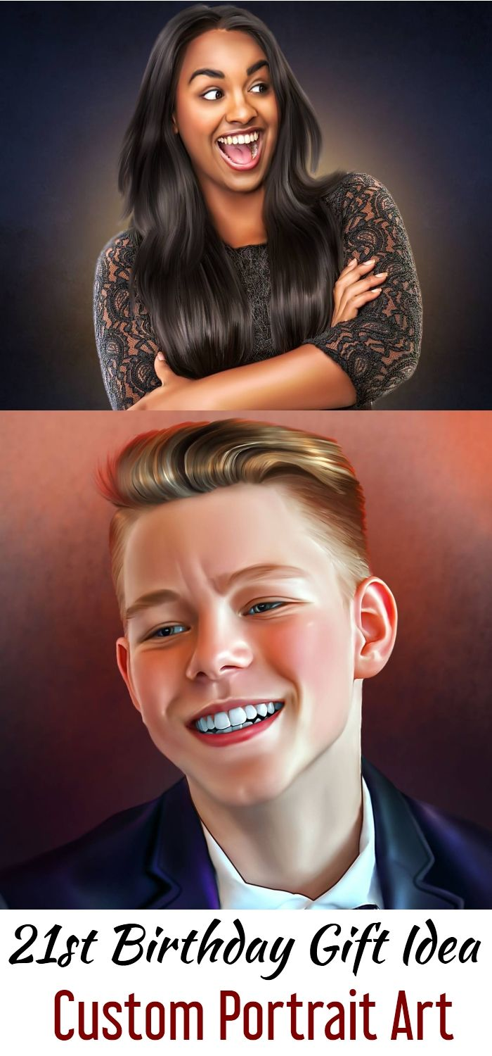 26d865a663b4 21st Birthday Gift Idea For Sister, Brother, Cousin, Nephew, Niece,  Girlfriend, Boyfriend Painting Art